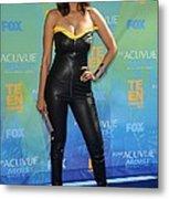 Tyra Banks Wearing A Thierry Mugler Metal Print