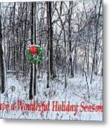 Tyra's Woods At Christmas Metal Print by Julie Dant