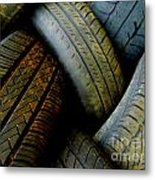 Tyres Metal Print