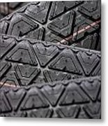 Tyres Stacked With Focus Depth Metal Print