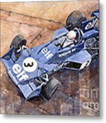 Tyrrell Ford 007 Jody Scheckter 1974 Swedish Gp Metal Print
