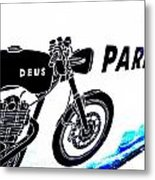 Ubud Motorbike Parking  Metal Print
