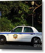 Uc Berkeley Campus Police Car  . 7d10178 Metal Print