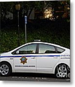 Uc Berkeley Campus Police Car  . 7d10181 Metal Print
