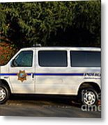 Uc Berkeley Campus Police Van  . 7d10180 Metal Print