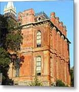 Uc Berkeley . South Hall . Oldest Building At Uc Berkeley . Built 1873 . The Campanile In The Back Metal Print