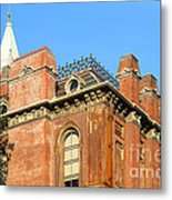 Uc Berkeley . South Hall . Oldest Building At Uc Berkeley . Built 1873 . The Campanile In The Backgr Metal Print