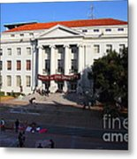 Uc Berkeley . Sproul Hall . Sproul Plaza . Occupy Uc Berkeley . 7d10004 Metal Print by Wingsdomain Art and Photography