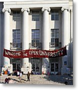 Uc Berkeley . Sproul Hall . Sproul Plaza . Occupy Uc Berkeley . 7d9992 Metal Print by Wingsdomain Art and Photography