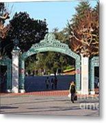 Uc Berkeley . Sproul Plaza . Sather Gate . 7d10020 Metal Print
