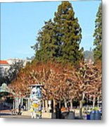 Uc Berkeley . Sproul Plaza . Sather Gate And Campanile Tower . 7d9996 Metal Print