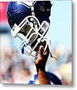 Uconn Helmet  Metal Print by University of Connecticut