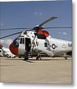 Uh-3h Sea King Helicopters Based Metal Print
