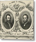 Ulyssess S Grant And Schuyler Colfax Republican Campaign Poster Metal Print