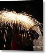 Umbrella Of Sparks Metal Print