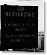 Un Buffer Zone In Pyla In The Green Line Dividing North And South Cyprus Metal Print