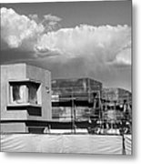 Under Construction Bw Palm Springs Metal Print