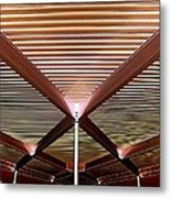 Under The Canopy Tramway Gas Station Metal Print