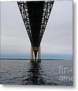 Under The Mackinac Bridge Metal Print