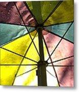 Under The Umbrella Metal Print