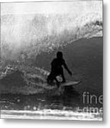 Undercover Black And White Metal Print