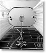 Underneath An Old Style Shower Metal Print by Simon Bratt Photography LRPS