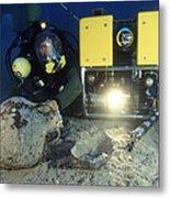 Underwater Archaeology Metal Print