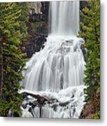 Undine Falls Yellowstone National Park Metal Print