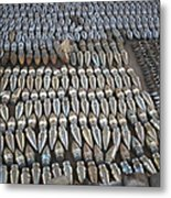 Unexploded Ordnance Lies In Storage Metal Print