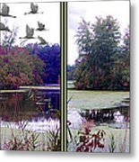 Unicorn Lake - Cross Your Eyes And Focus On The Middle Image Metal Print