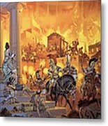Unidentified Roman Attack Metal Print