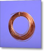 Uninsulated Copper Wire Metal Print
