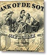 Union Banknote, 1863 Metal Print