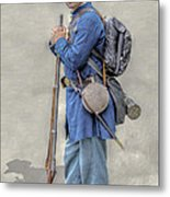 Union Civil War Soldier Black Hats Ver 2 Metal Print
