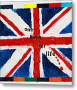 Union Jack One Team For Life Metal Print