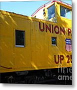Union Pacific Caboose - 5d19205 Metal Print by Wingsdomain Art and Photography