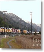 Union Pacific Locomotive Trains . 7d10558 Metal Print