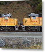 Union Pacific Locomotive Trains . 7d10573 Metal Print by Wingsdomain Art and Photography