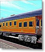 Union Pacific Observation Car In Hdr Metal Print