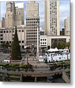 Union Square Sf Metal Print by Ron Bissett