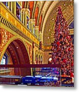 Union Station Christmas Metal Print