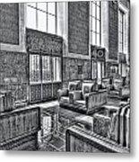 Union Station L.a. Seats 2 Metal Print