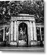 union street facade to the old kirkyard churchyard o the kirk of St Nicholas aberdeen scotland uk Metal Print