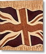 United Kingdom Flag Coffee Painting Metal Print