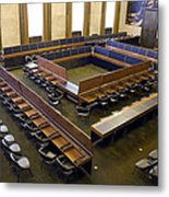 United Nations Council Chamber Metal Print