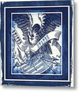 United States Blue Metal Print