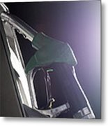 Unleaded Petrol Pump Metal Print