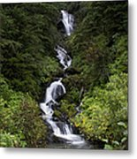 Unnamed Alaskian Falls Metal Print