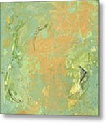 Untitled Abstract - Caramel Teal Metal Print