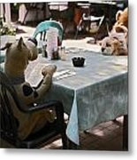 Unusual Diners Metal Print